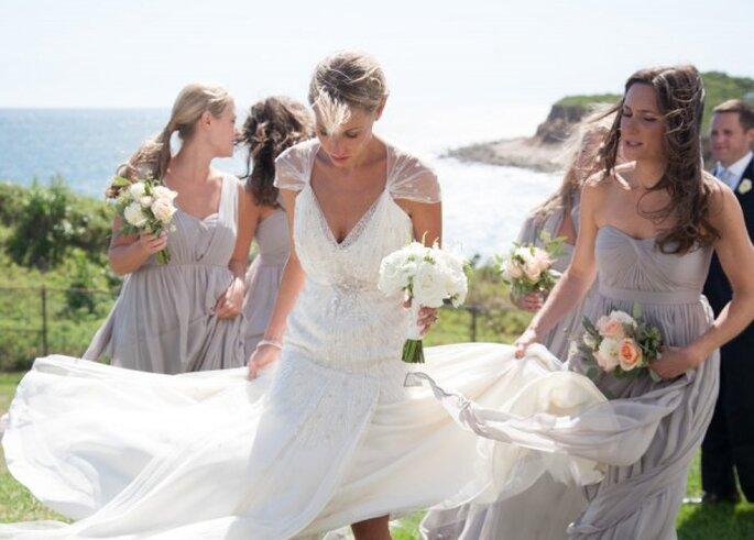 Vestidos para tus damas en color lila polveado - Foto Cappy Hotchkiss Photography