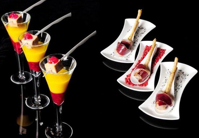 ¡Los platos sofisticados y creativos se imponen! Fotos: Castropol Catering