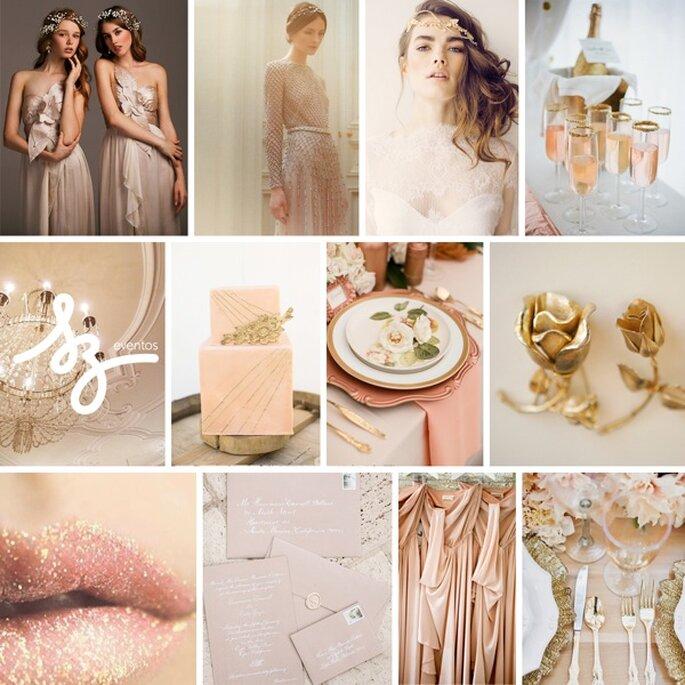 Decoración de boda en ros champagne - Fotos de Valentino alta costura, Katelyn James Photography, Tinywater Photography, Cupcakes Couture of Manhattan, Sandra Aberg, GM Photographics