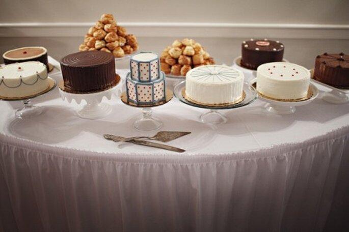 Decoración de boda con tendencia geométrica. Fotografía Jenny Jimenez para Ruffled