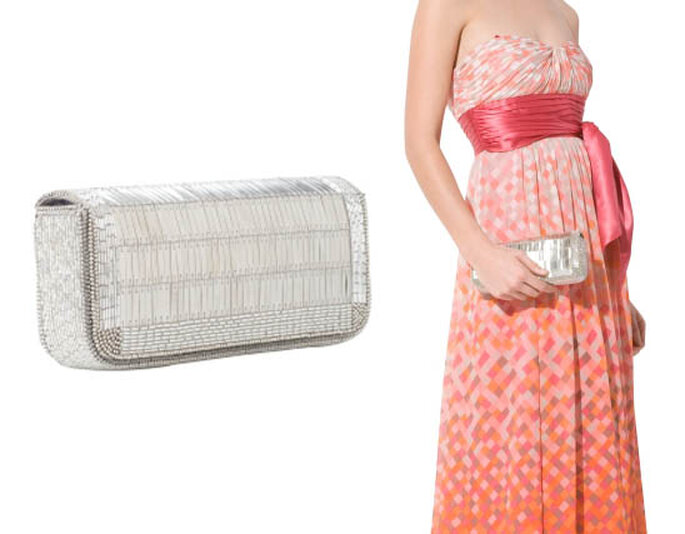 Modelo Metal Beaded Minaudiere by Max Azria