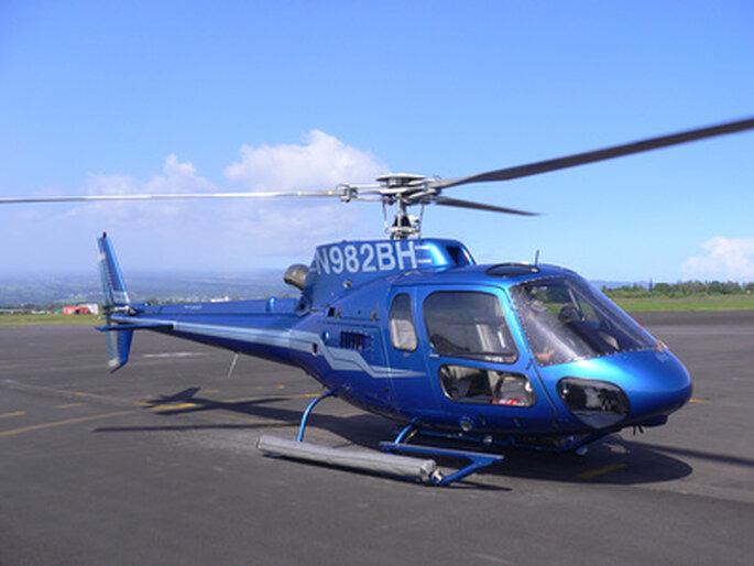 Richtig filmreif mit Helikopter – Foto: Klaus Brüheim/ pixelio.de