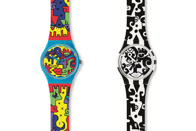 Modelos Swatch diseñados por Billy The artist