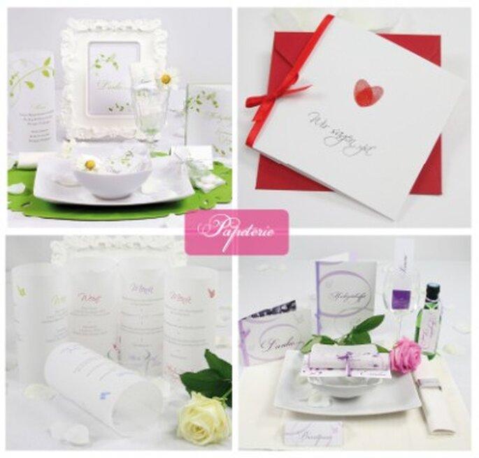 Papeterie für die Hochzeit beim ja-hochzeitsshop in Neckarhausen