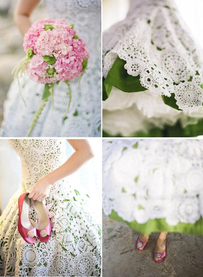 Ramo y zapatos de novia a juego - Yagoazul.com
