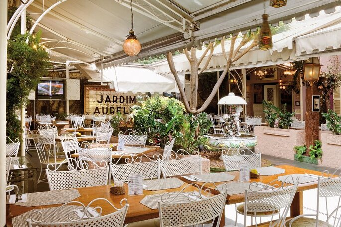 Restaurante Jardim Aurélia. Foto: divulgação