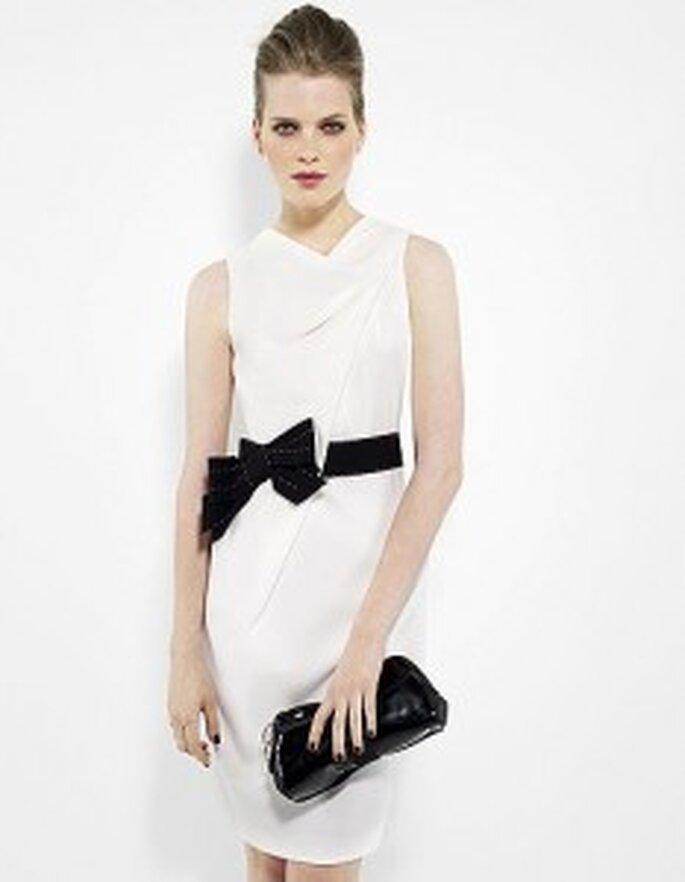 robe cocktail blanche