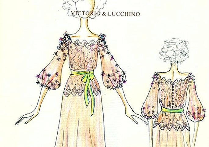 El secreto mejor guardado: el vestido de la novia, también de Victorio y Lucchino