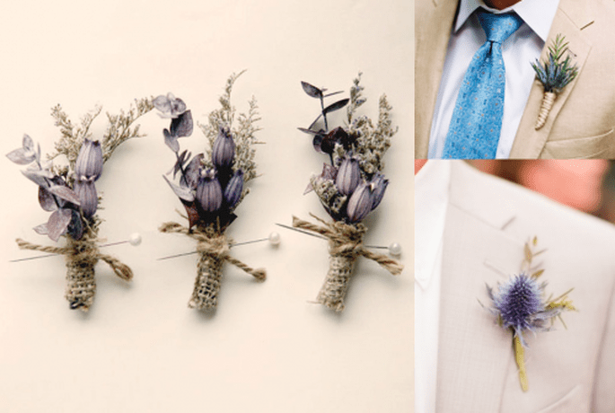 Utiliza las plantas con olor para la decoración de tu boda y el boutonniere del novio - Foto Jonathan Canlas y y Whichgoose