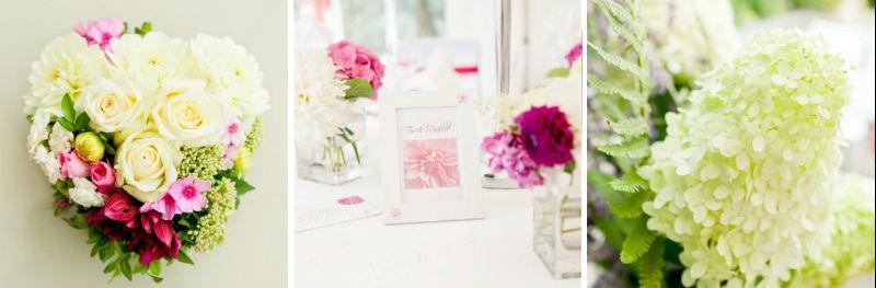 Beispiel: Florale Dekoration aus der Hand der Hochzeitsplanerin, Foto: magnoliaweddings