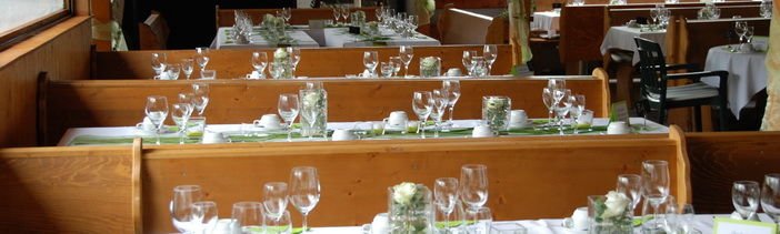 Beispiel: Tischdekoration, Foto: Hofgut Elchenreute.