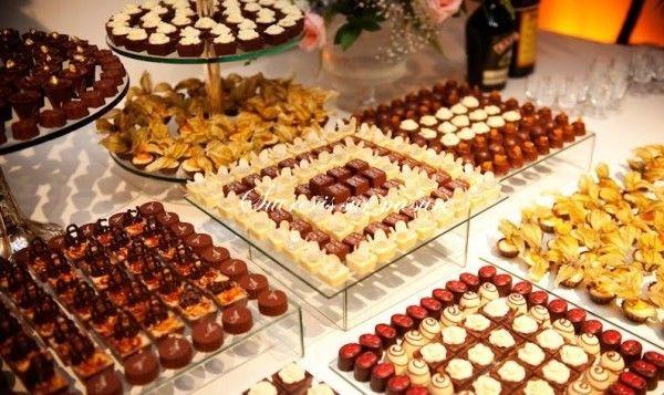 sweet table avec les bouchées fondant