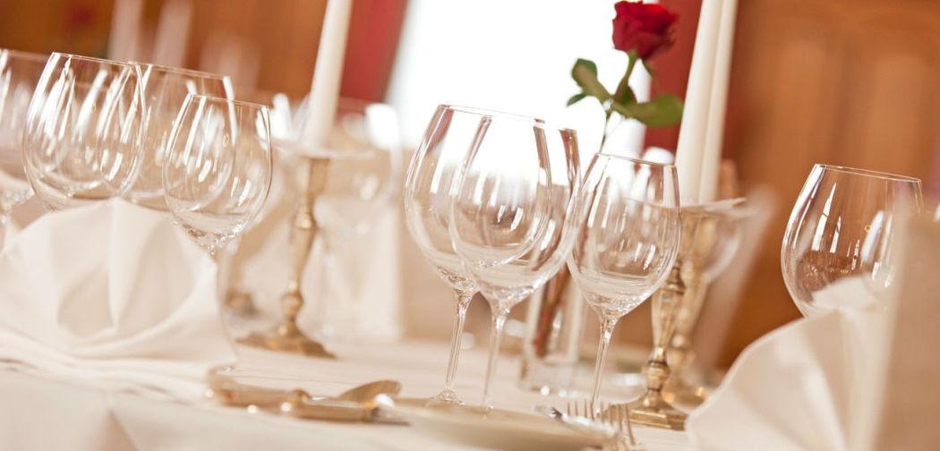 Beispiel: Tischdekoration, Foto: Hotel Edelweiss.