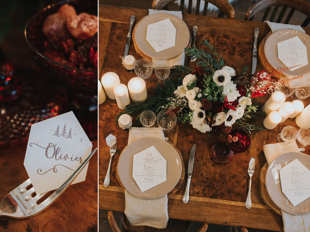 Mariage hivernal marsala en Normandie - La Fabrique des Instants