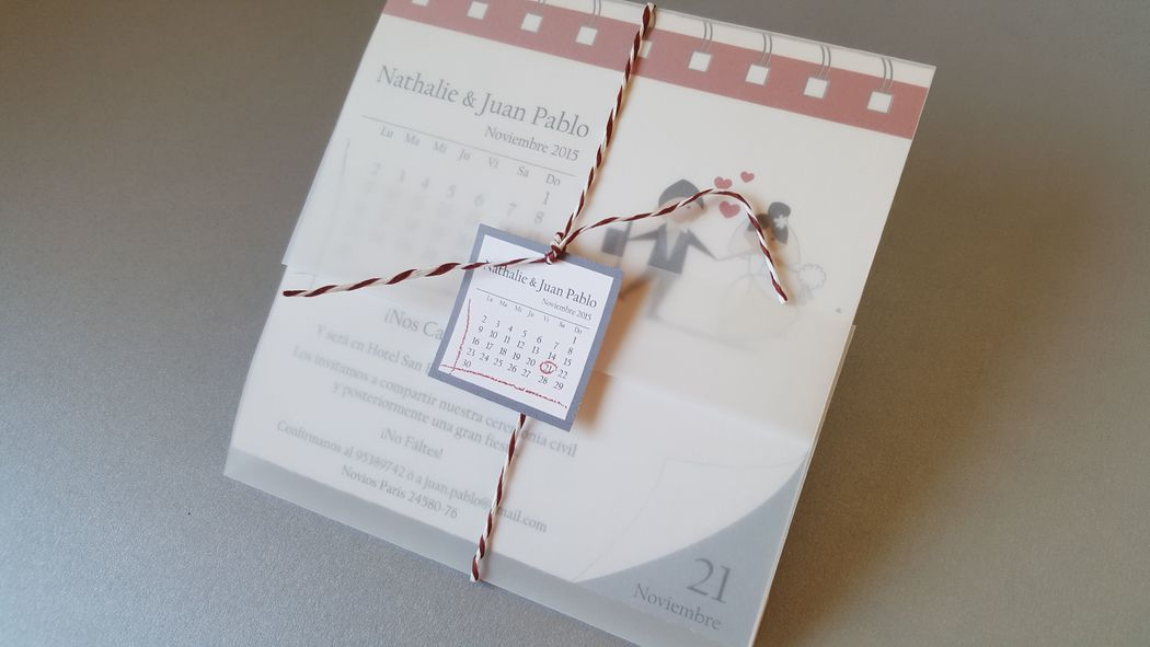 Invitación diseño calendario cód. 010