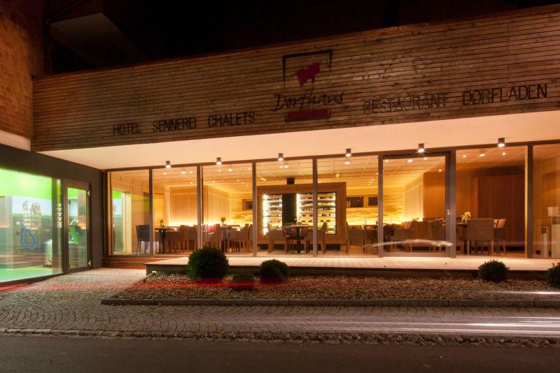 Beispiel: Außenansicht Nacht, Foto: Dorfhaus Thalkirchhof.
