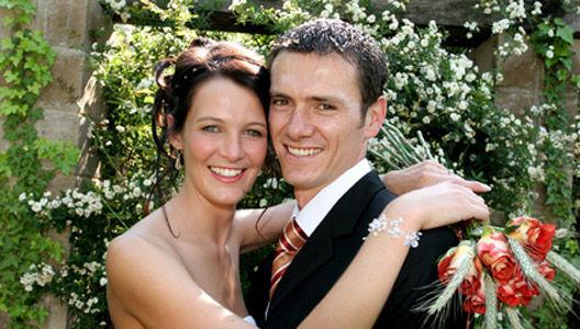 Beispiel: Glückliches Brautpaar, Foto: Landhaus Klosterwald.