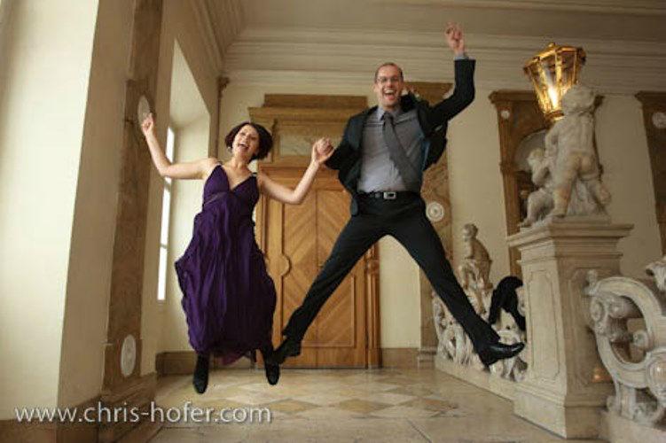 Beispiel: Kreative Fotos von Ihrer Hochzeit, Foto: Chris Hofer Fotografie.