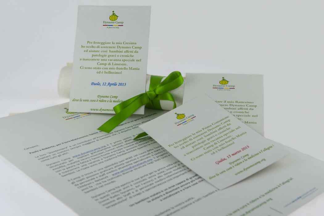 Partecipazioni, bigliettini e pergamene