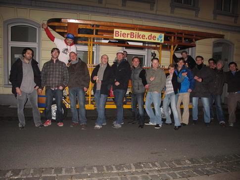 Beispiel: Spaß und gute Laune garantiert, Foto: BierBike Aachen.