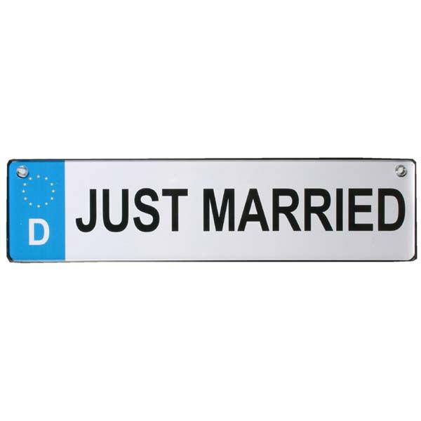 Beispiel: Autokennzeichen, Foto: Sweet Wedding Hochzeitsdekoration.