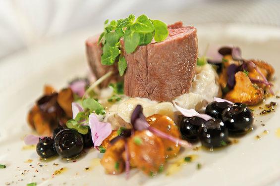 Beispiel: Gourmetküche im Restaurant Belvedere, Foto: Travel Charme Strandidyll Heringsdorf.