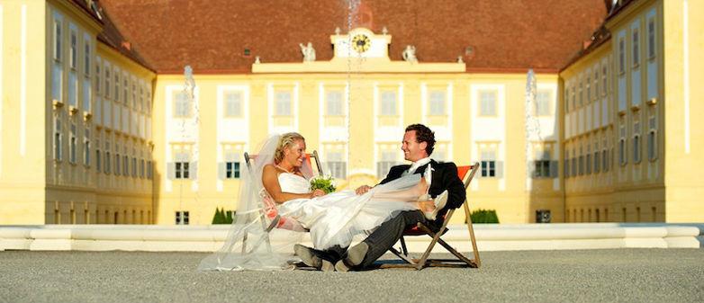 Beispiel: Feiern sie Ihre Hochzeit im Schloss, Foto: Schloss Hof.