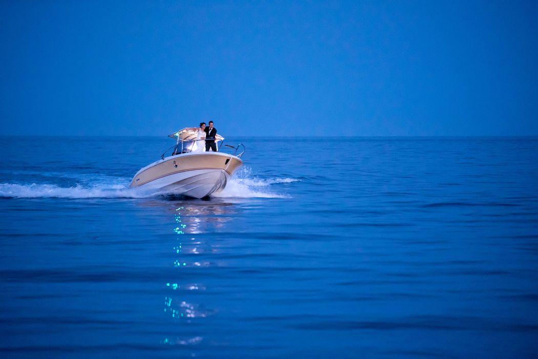 Arrivo Sposi in Barca