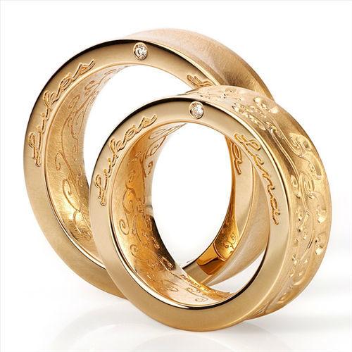Beispiel: Trauringe - Gelbgold, Foto: Juwelier Nußstein.
