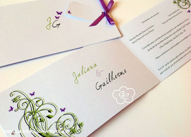 convite de casamento modelo 32