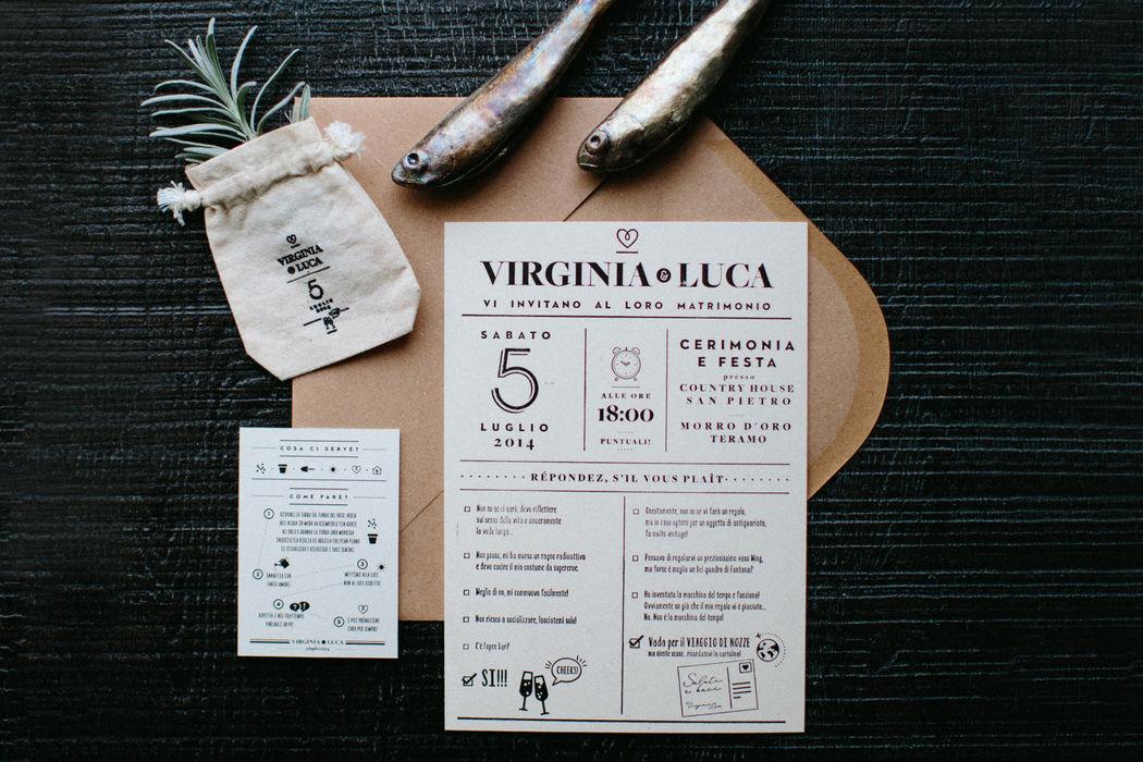 Virginia & Luca |  Weddign Stationery Carta Cartiere Paudice Nereo – Cartone Vegetale 510g/m Stampa Letterpress un colore