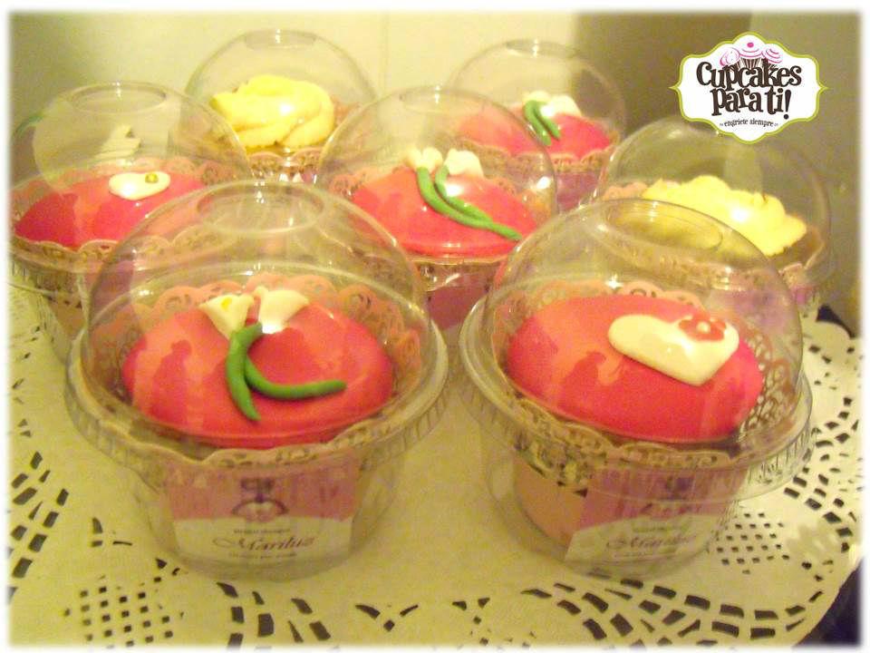 Cupcakes para ti! Torres de cupcakes para bridal shower