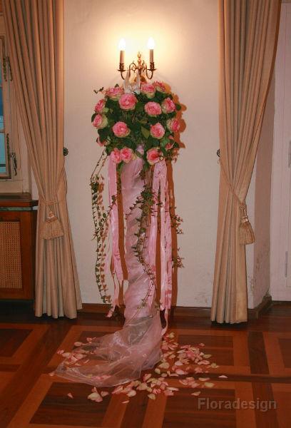Beispiel: Blumen für die Trauungszeremonie, Foto: Floradesign.