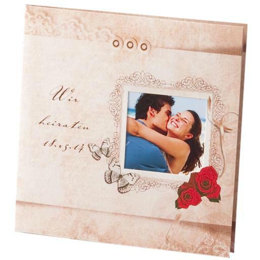 Beispiel: Hochzeitseinladungskarten, Foto: Sweet Wedding Hochzeitskarten.