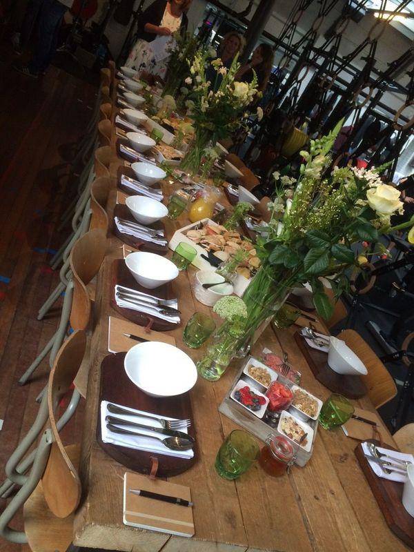 Gedekte tafel bruidslunch