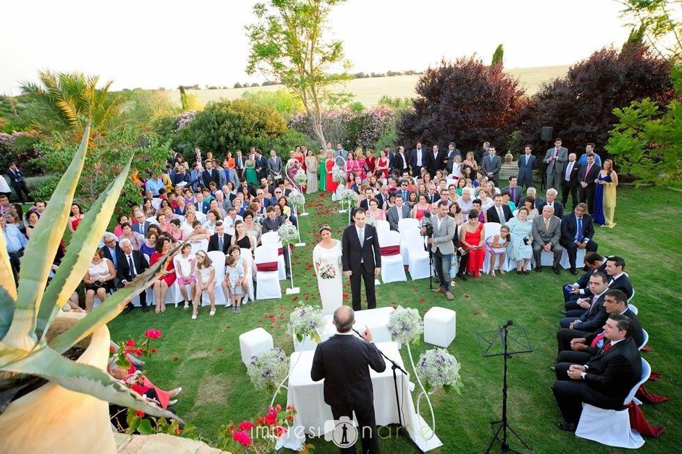Ceremonia civil en hacienda
