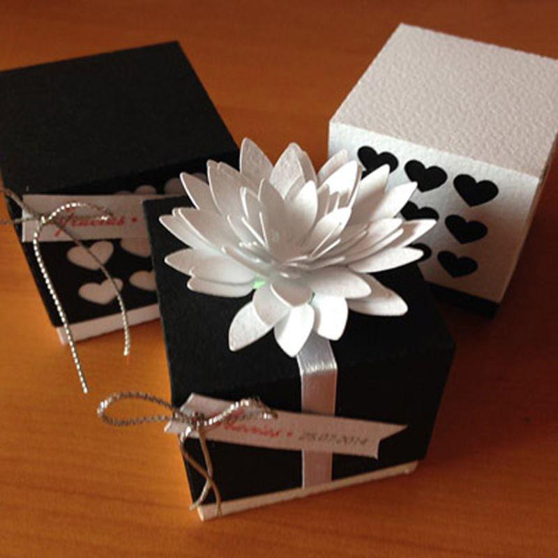 Souvenirs- Cajas Corazón y Flor de Loto