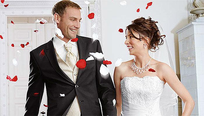 Beispiel: Brautpaar, Foto: Boutique Berner.