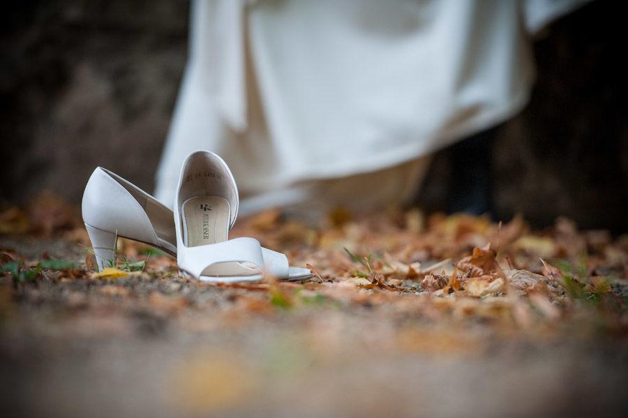 Beispiel: Brautschuhe, Foto: Hochzeitsfotografie Thomas Göbert