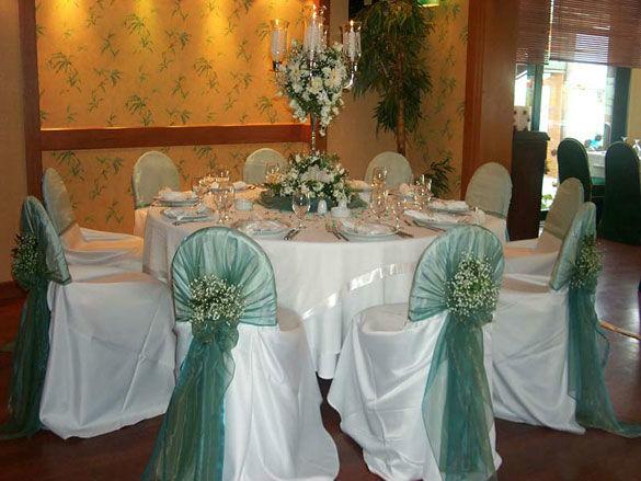 Beispiel: Hochzeitsgedeck, Foto: Ness Event.