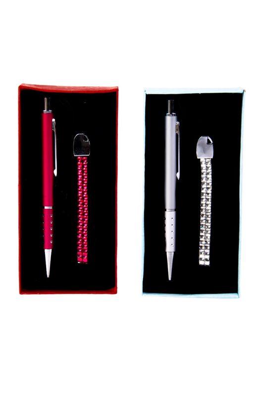 Bolígrafo y cuelga móvil
