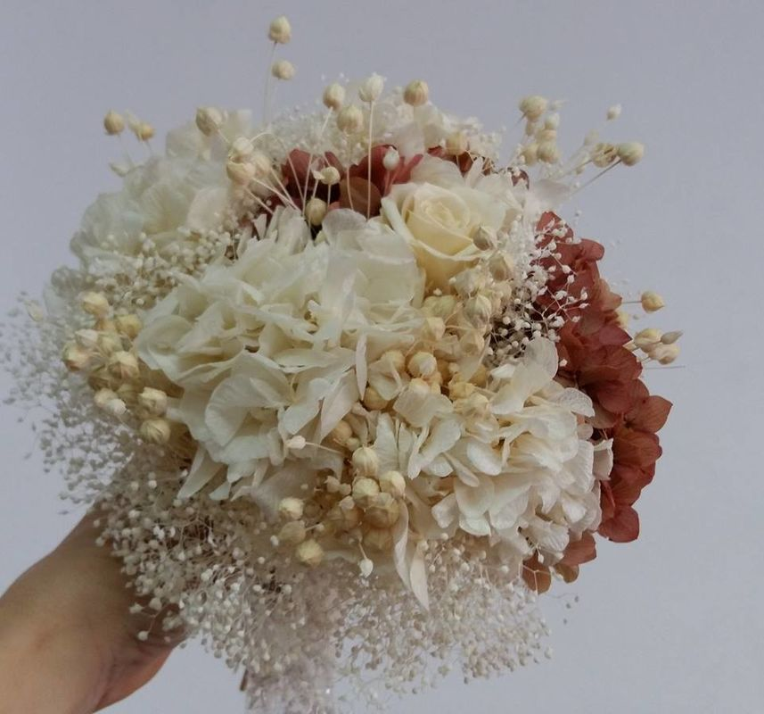 ramo de novia flor preservada