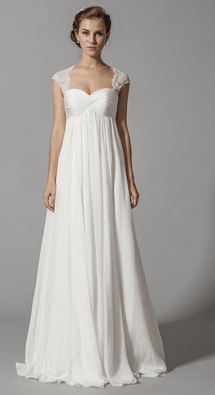 Robe de mariée vestale; modèle unique en Europe, en exclusivité sur www.mariageenrose.fr.