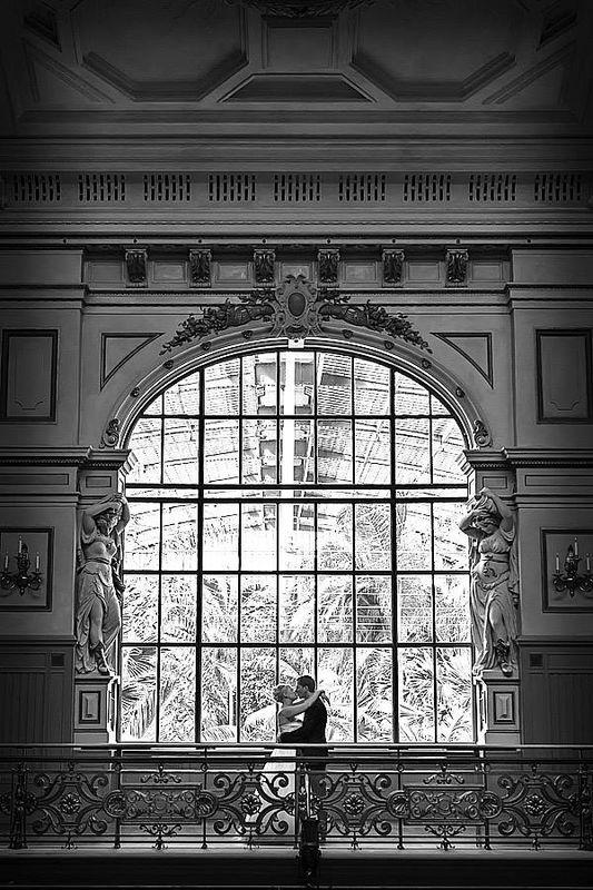 Brautpaar im Palmengarten Frankfurt