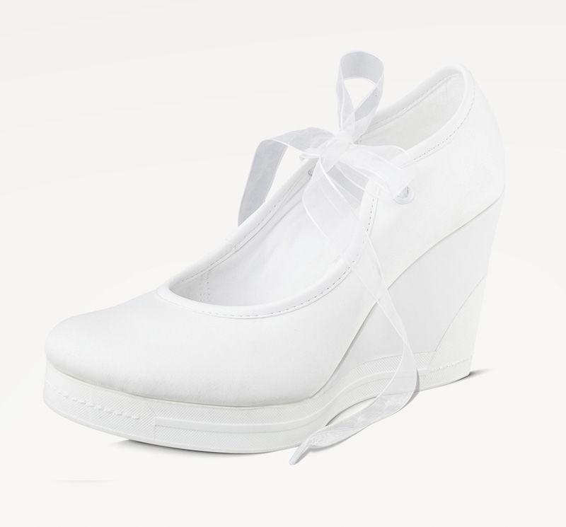 Kate tan delicada y cómoda ¡Mejor imposible como zapatillas de novia!