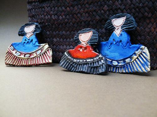Broches de cerámica hechos a mano