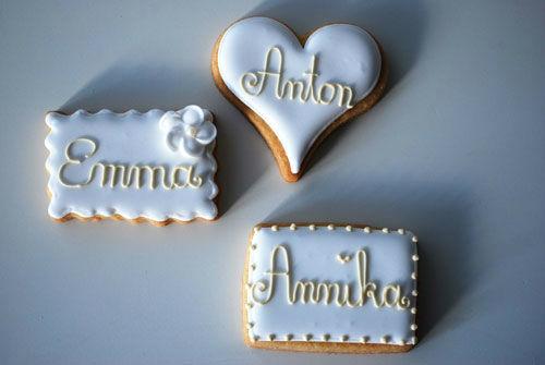 Beispiel: Hochzeitskekse, Foto: Backwerkstatt Die Zuckerbäckerin.