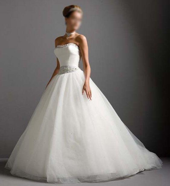 Robe de mariée princesse en tulle en dépôt-vente et sur commande chez Mariage en Rose.