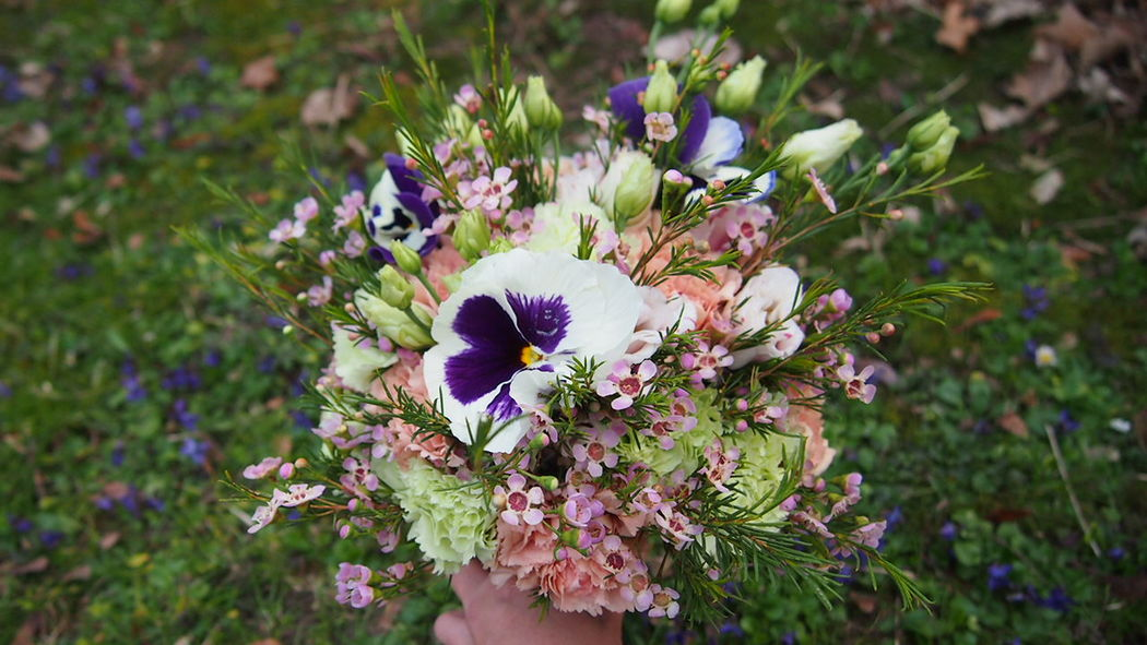 Des Bulles Dans Les Branches Bouquet de mariée champêtre