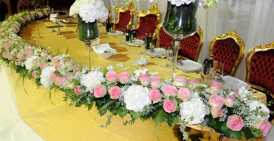 Beispiel: Blumen als Dekoration, Foto: Evoy Dekor.